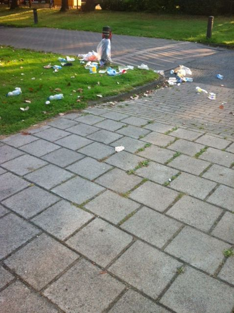 afval op sttraat