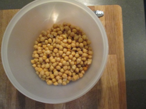 Step one: the chickpeas